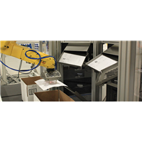 Inserting documents into shipping carton