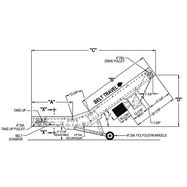 Buy Low Profile Portable Parts Conveyor, Portable Conveyor