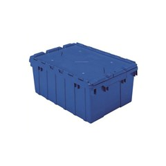 Akro-Mils Attached Lid Containers - 39085BLUE - Blue - Qty: 6