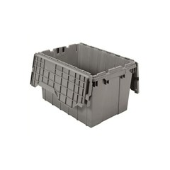 Akro-Mils Attached Lid Containers - 39120 - Gray - Qty: 6