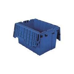 Akro-Mils Attached Lid Containers - 39120BLUE - Blue - Qty: 6
