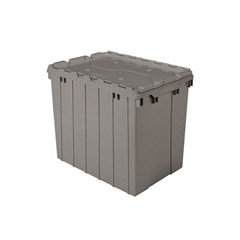 Akro-Mils Attached Lid Containers - 39170 - Gray - Qty: 3