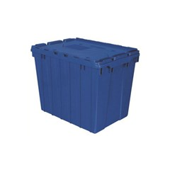 Akro-Mils Attached Lid Containers - 39170BLUE - Blue - Qty: 3
