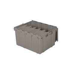 Akro-Mils Attached Lid Containers - 39175 - Gray - Qty: 1