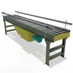 Flat-Belt Driven Live Roller Conveyor