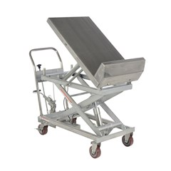 Portable Manual Lift Table - 1000 lbs. Capacity - 33.625 in L x 22 in W