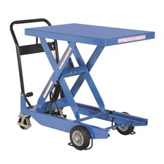 Portable Manual Lift Table - 1000 lbs. Capacity - 35.4375 in L x 23.625 in W