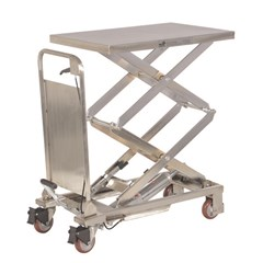 Hydraulic Lift Table - 220 lbs. Capacity - 27.5 in L x 17.5 in W