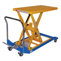 Portable Manual Lift Table - 1500 lbs. Capacity - 48 in L x 24 in W