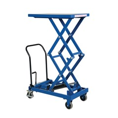 Portable Manual Lift Table - 300 lbs. Capacity - 33 in L x 19.5 in W