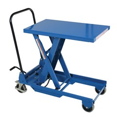 Portable Manual Lift Table - 300 lbs. Capacity - 30 in L x 17.75 in W