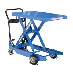 Portable Manual Lift Table - 300 lbs. Capacity - 35.4375 in L x 23.625 in W
