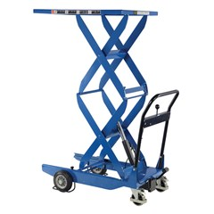 Portable Manual Lift Table - 400 lbs. Capacity - 35.4375 in L x 23.625 in W