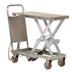 Portable Electric Lift Table - 500 lbs. Capacity - 32 in L x 19.5 in W
