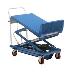 Portable Manual Lift Table - 600 lbs. Capacity - 36 in L x 24 in W