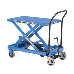 Portable Manual Lift Table - 600 lbs. Capacity - 33.125 in L x 19.75 in W