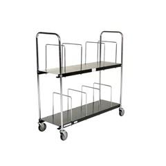 Portable Carton Cart Two Tier 18 X 56