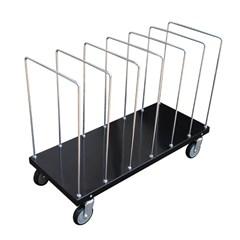 Portable Carton Cart W/ Dividers 18 X 44