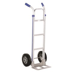 2 Handle Aluminum Hand Truck with Hard Rubber 50