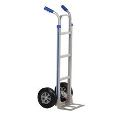2 Handle Aluminum Hand Truck with Hard Rubber 49