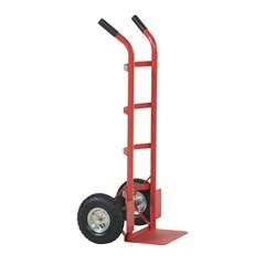 Steel Dual handle Hand Truck with Pneumatic Wheels - 500 lbs Capacity
