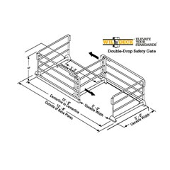 Double-Drop Safety Gate - Installation Footprint: 13'-8
