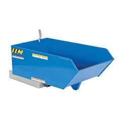 .5 Cubic Yard, 6,000 lbs. Capacity Low Profile, 90 degree Self-Dumping Steel Hopper