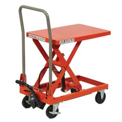 Portable Manual Lift Table - 440 lbs. Capacity - 31.5 in L x 19.7 in W