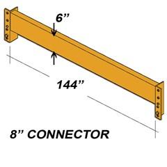 Beam - 6 H X 144L Hd - 8In Clip - Orange