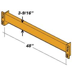 Beam - 3-9/16H X 48L - 6In Clip - Orange