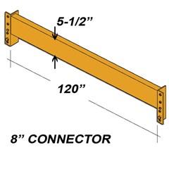 Beam - 5-1/2H X 120L - 8In Clip - Orange