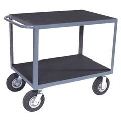 2 shelf instrument cart with vinyl matting on both shelves 24 x 48