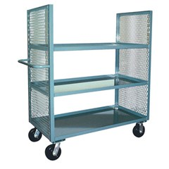 2 sided mesh truck with 3 shelves 24 x 48