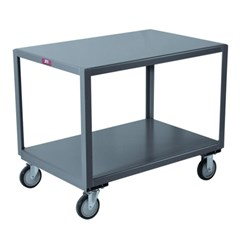 Two shelf mobile table 1,200lb capacity 36 x 72
