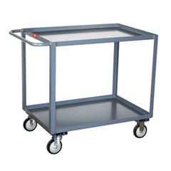 1,200 lb capacity 2 shelf truck in stainless steel 30 x 48