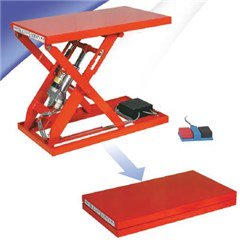 Mechanical  Lift Table - 220 lbs. Capacity - 28.3 in L x 15.7 in W