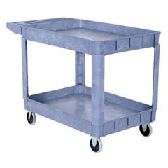 Plastic Utility Cart 2 Shelves 24.5 X 36