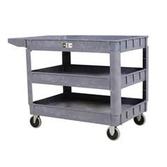 Plastic Utility Cart 3 Shelves 24.5 X 36