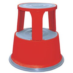 Red Rolling Step Stool
