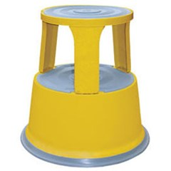 Yellow Rolling Step Stool