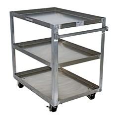 Alum Service Cart W/ Three 28X40 Shelves
