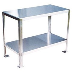 Stainless steel 2 shelf work stand 24 x 48