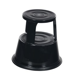 Black Rolling Step Stool