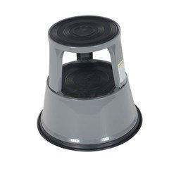 Gray Rolling Step Stool