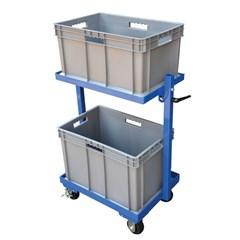Multi-Tier Cart 2 Shelf 2 Basket 200 Lb