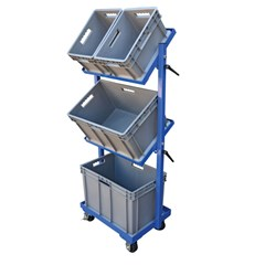 Multi-Tier Cart 3 Shelf 3 Basket 200 Lb