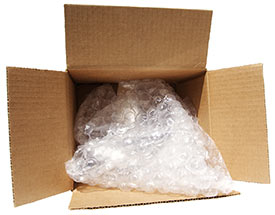 Box with Bubble wrap for Packing
