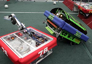 Robots Compete at FIRST Robotics Competition