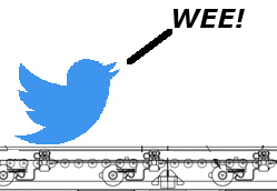 Conveyor Driven by Twitter