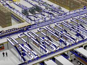 Conveyor system rendering